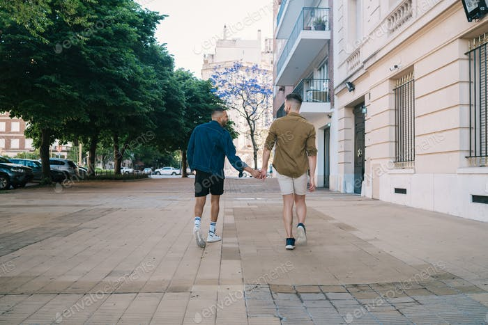 Gay couple spending time together.