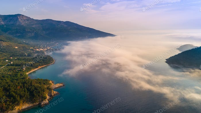 Kinira island at the island of Thassos Greece