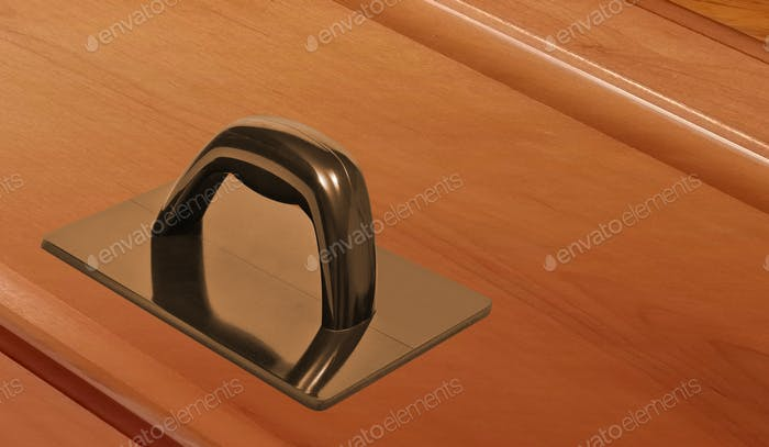 plastic door-handle on white background