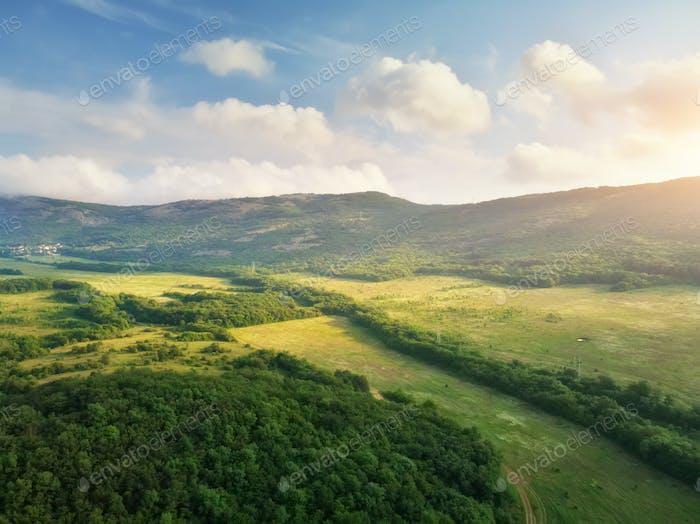 Scenic Luftbild der schönen Landschaft