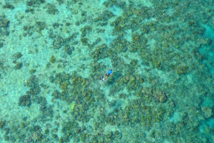 Man Diving at Sea