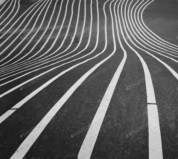 Striped asphalt pattern