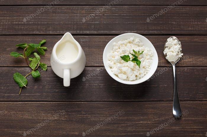 Lacto vegetarian diet concept