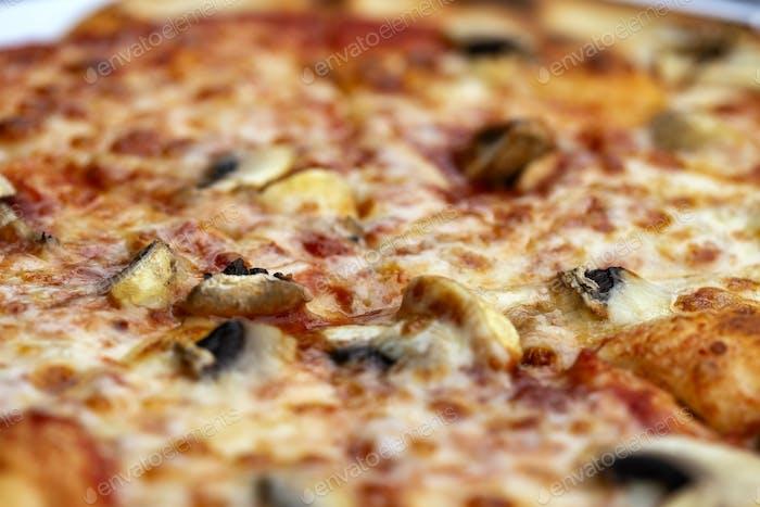 Italian pizza with salami
