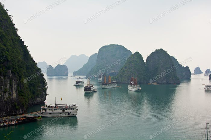 Halong bay in the morning,Vietnam