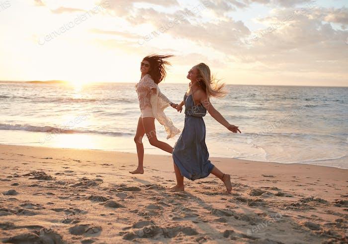 Friends enjoying a day on the beach