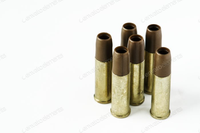 Closeup of ammunition