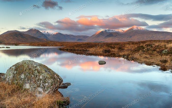 Lochan na Stainge at Glencoe in Scotland