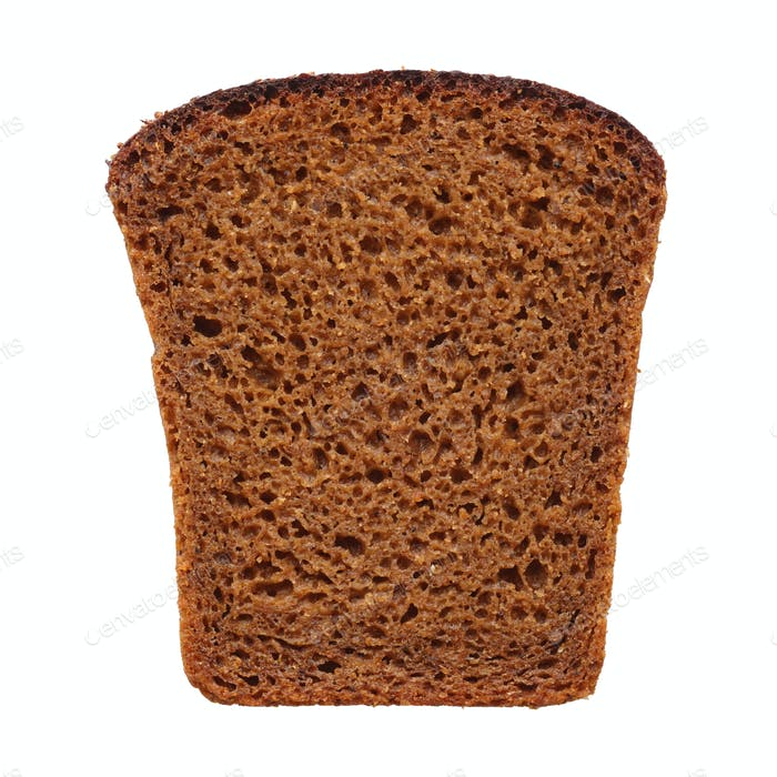 Slice of fresh dark rye bread