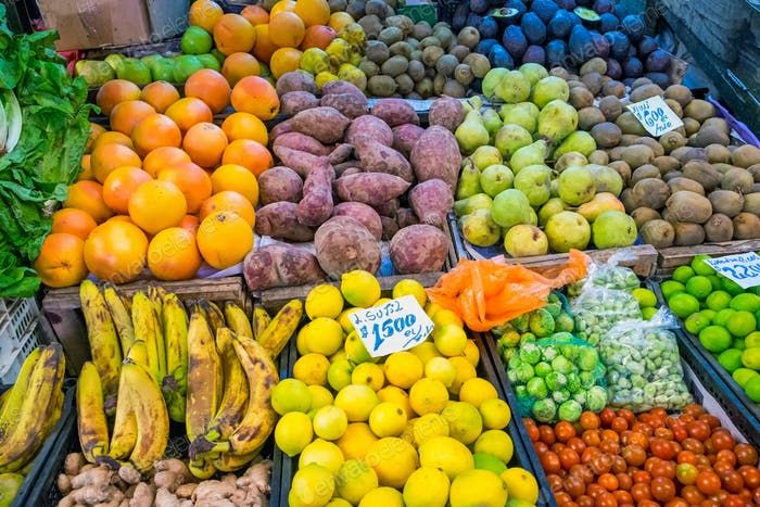Fruits and vegetables for sale