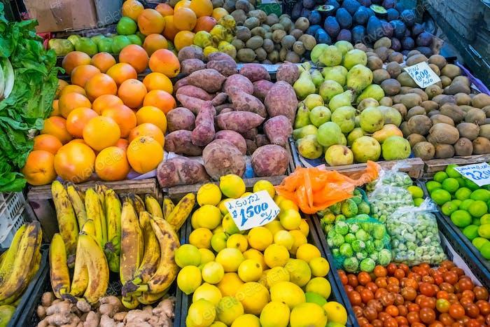 Obst und Gemüse zum Verkauf
