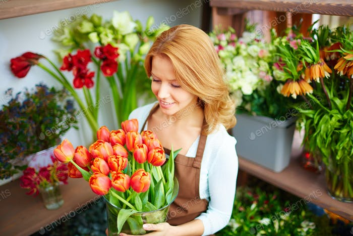 Attractive florist