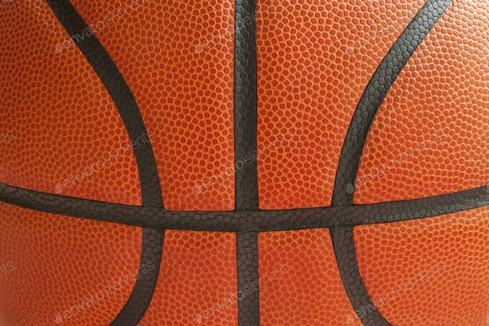 Close Up of Basketball Texture