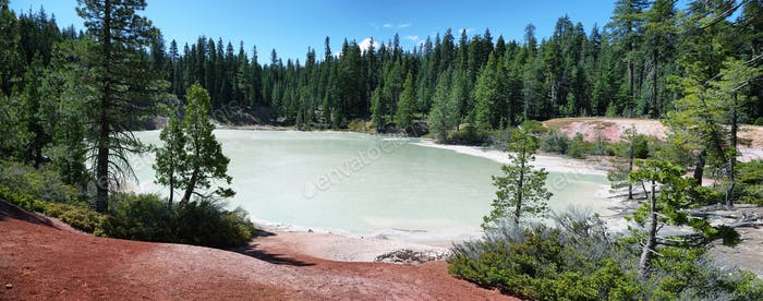 Boiling spring lake in Lassen Volcanic National Park