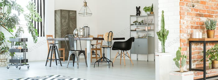 Industrial decor of room