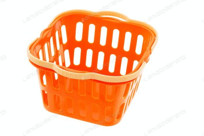 Korb aus Kunststoff in Orange