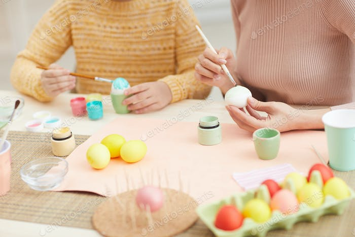 Painting Easter Eggs Together