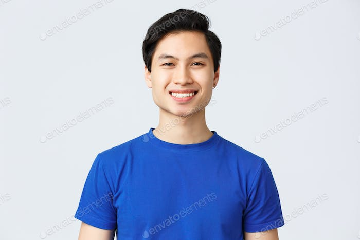 Placeit - Close-up of handsome cheerful man smiling.