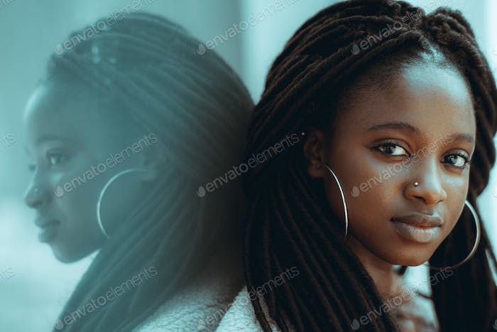 Portrait of a lovely African girl