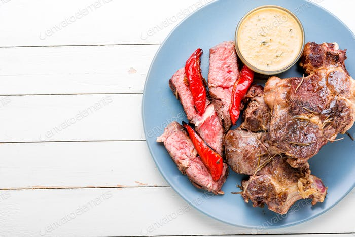 Beef steak and spices