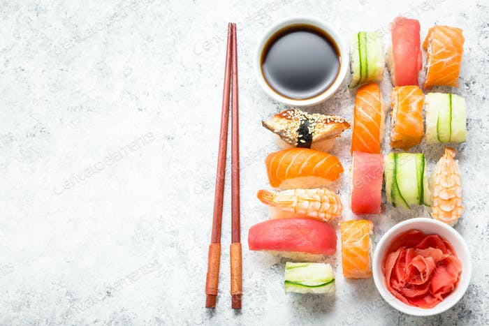 Sushi sortiertes Set