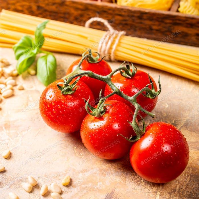 Fresh tomatoes for homemade classic italian pasta sauce
