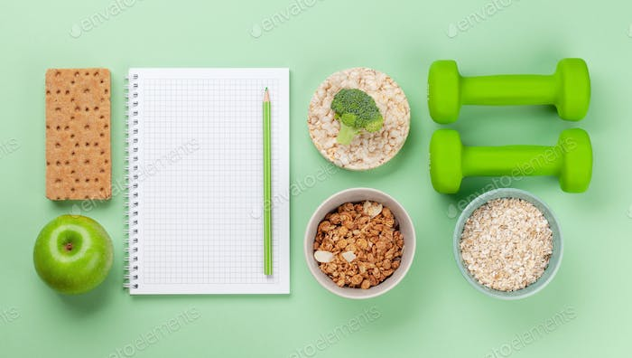 Healthy food and weigh loss concept
