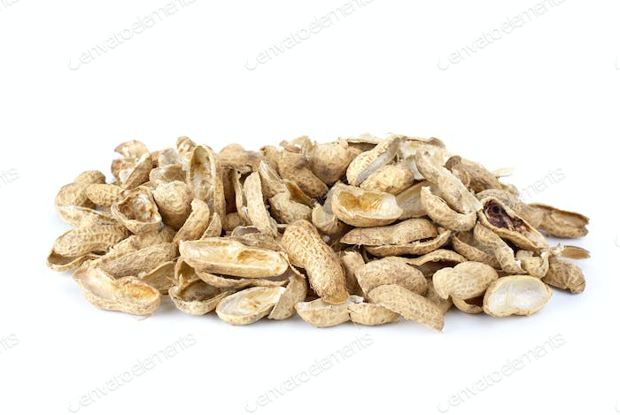 Some peanut husks