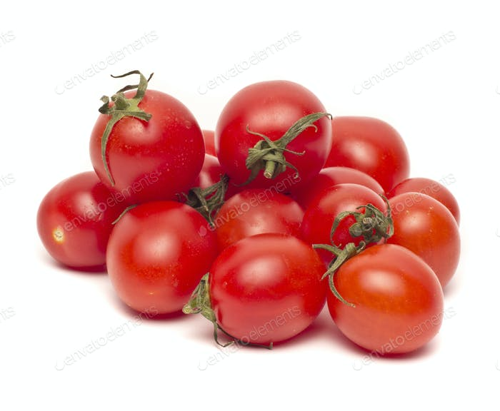 Ripe Fresh Cherry Tomatoes isolated