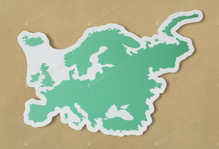 Blank map of Europe and countries