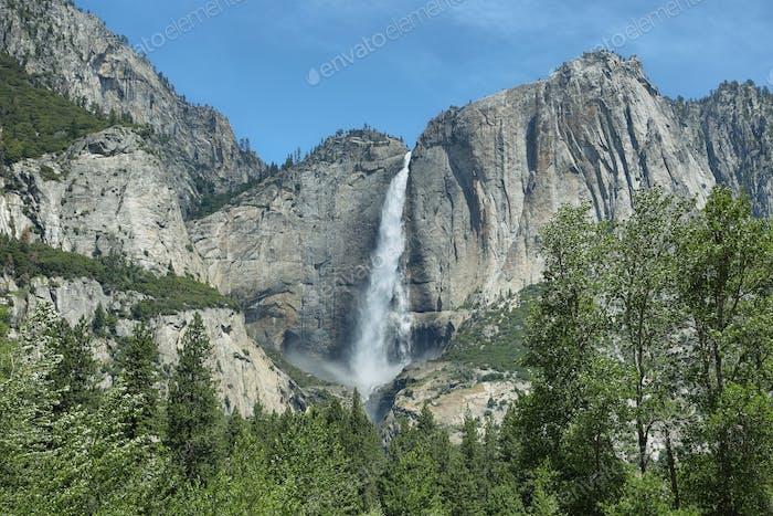 Upper falls in Yosemite national Park