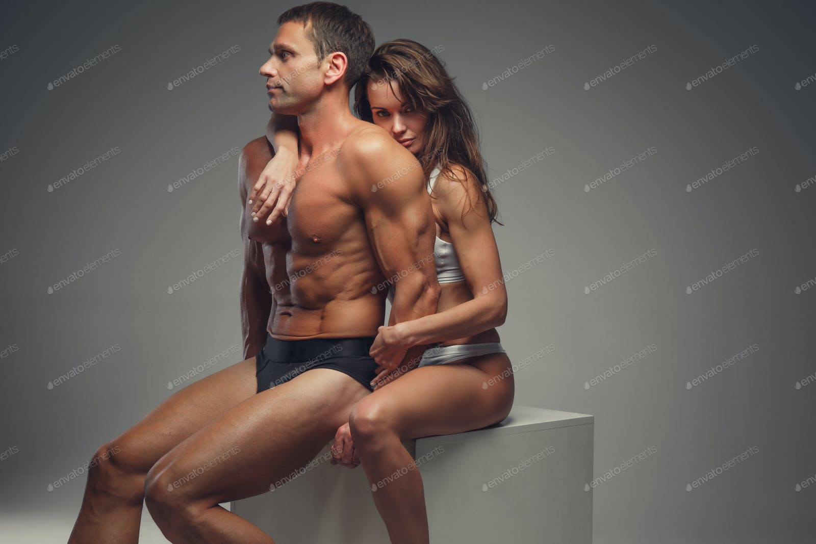Naked and athletic Naked Athletic Couple Posing In Studio Photo By Fxquadro On Envato Elements