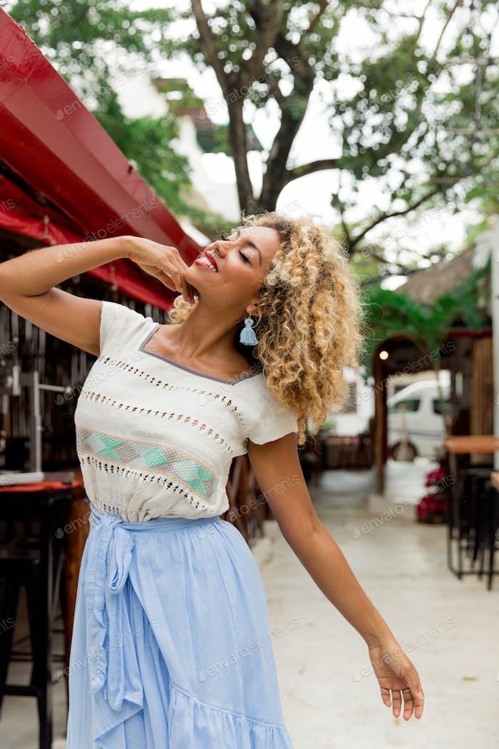 Attractive elegant African American lady