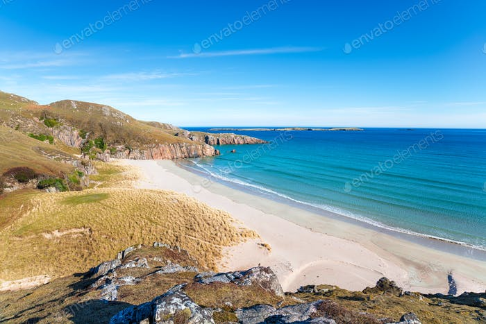 Sangobeg Beach in Scotland