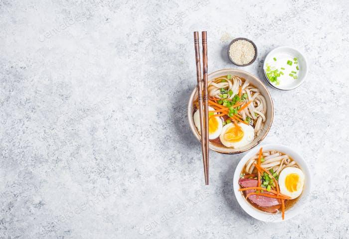 Japanese ramen bowl