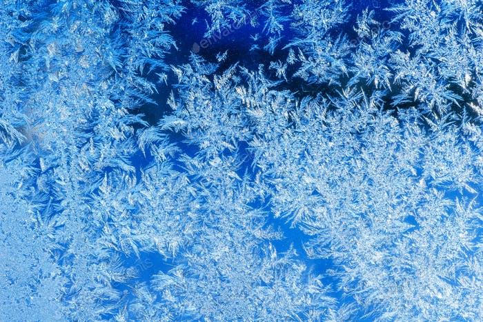 ice crystals on a window