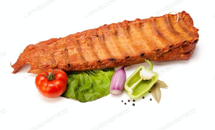 Spicy raw pork ribs