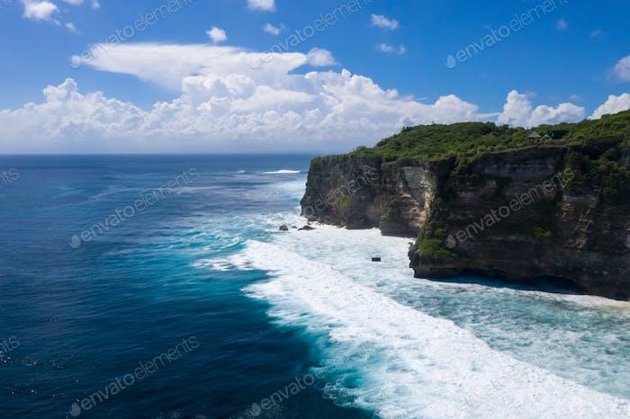 uluwatu cliff of bali island landscape