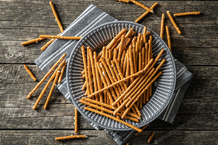 Salty sticks. Crunchy pretzels.