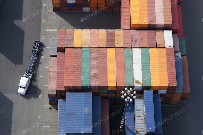 45619,Shipping Containers and Semi Truck