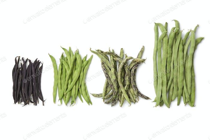 Vielfalt der frischen Bohnen