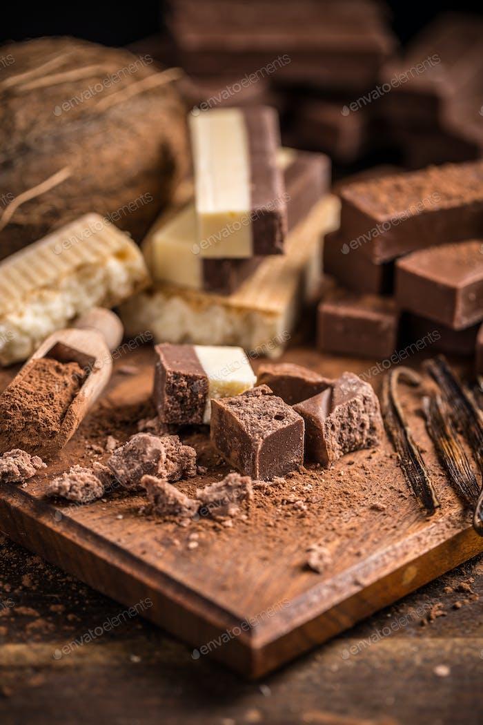 Homemade chocolate