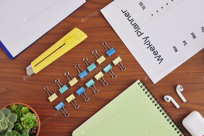 Desk of student