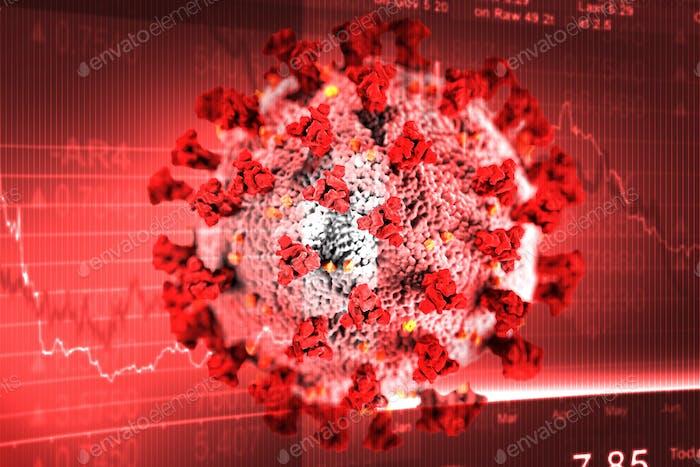 Globale wirtschaftliche Auswirkungen aufgrund einer roten Coronavirus-Pandemie