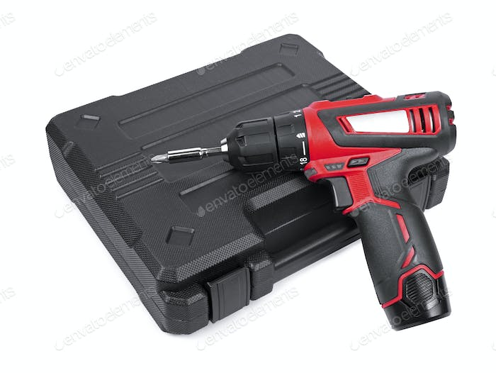Cordless electric screwdriver with box