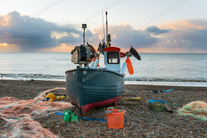 Fishing boat at Aldeburgh on the Suffolk coast
