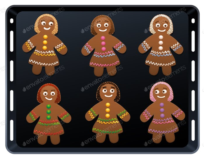 Gingerbread Women Baking Plate