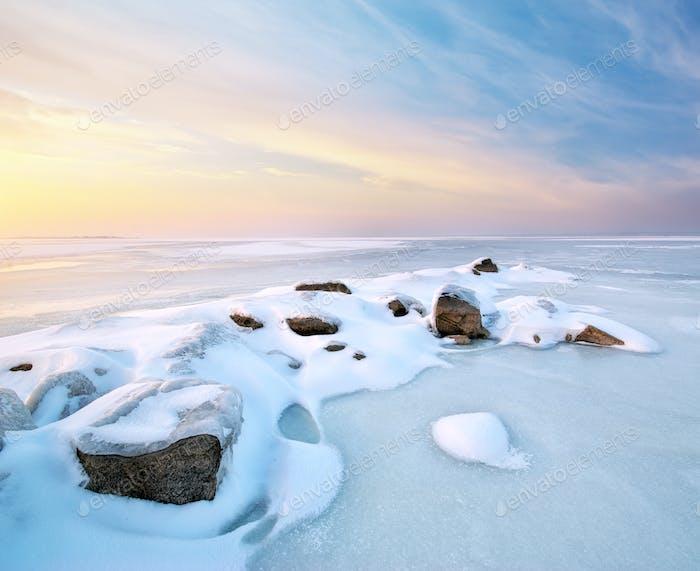 Stein auf Eis