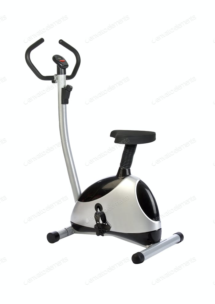exercisers bike isolated on white