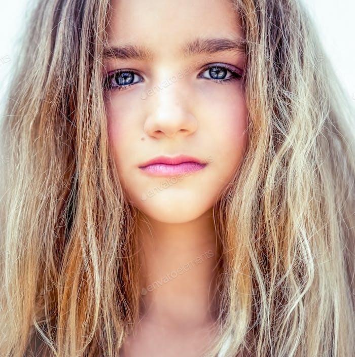 portrait of a beautiful teen girl